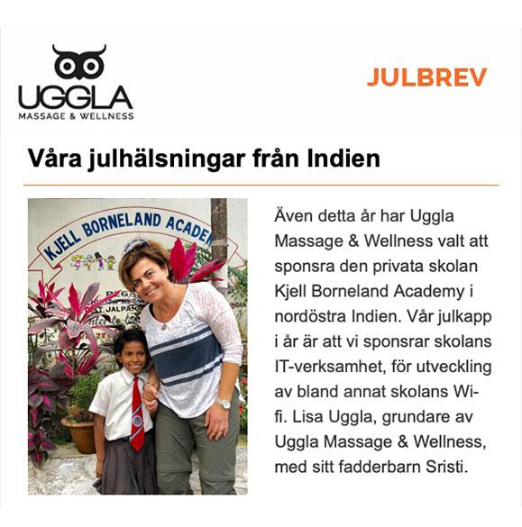Julbrev från Uggla Massage